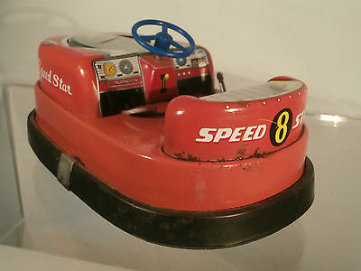 TN Nomura Speed Star Blech 60er Jahre Bumper Japan Tin Toy