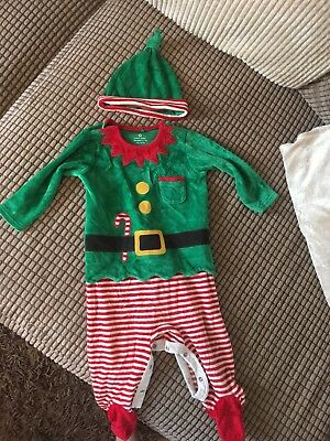 Boys Elf Christmas Outfit 6-9 Months Next