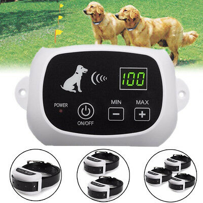 Wireless 1/2/3 Dog Fence Waterproof Containment System Rechargeable US/EU plug