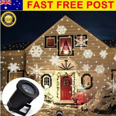 Star LED Light SNOWFLAKES Shower Laser LED Motion Projector Outdoor Xmas Garden