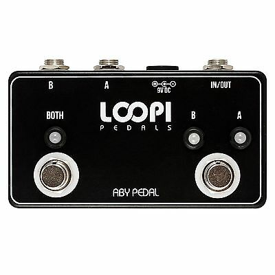 ABY Pedal Guitar Line Switcher - True Bypass - Loopi Pedals
