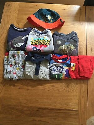 Boys Mixed Lot Clothing With Pyjamas Size 12-18 Months