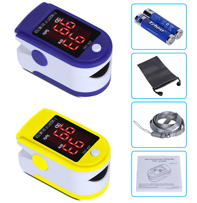 Finger Pulse Oximeter SpO2 LED Display Blood Oxygen Saturation Monitor Fingertip