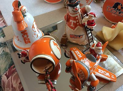 Set of Four Danbury Mint University of Tennessee Collector Ornaments