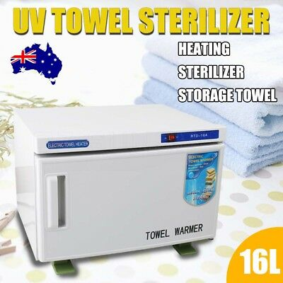 16L UV Sterilizer Cabinet Facial Towel Warmer Disinfection Salon Spa Hotel Spa
