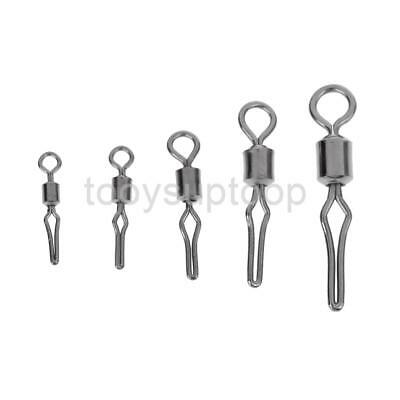 10Pc Drop Shot Barrel Swivels 12-25mm 8.8-88lb Fishing Side Line Grip Swivel
