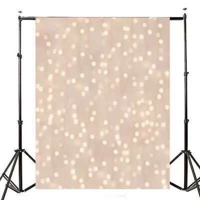 5X7FT Glitter Star Christmas Background Vinyl Photography Backdrop Studio Props