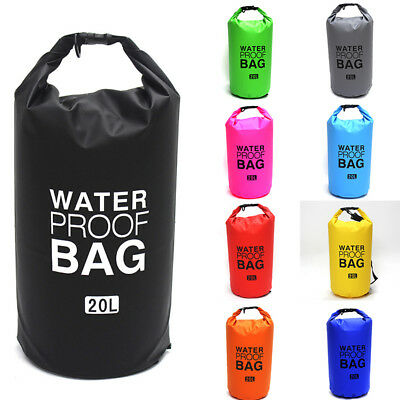 2-30L Sports Waterproof Dry Bag Backpack Pouch Floating Boating Kayaking Camping