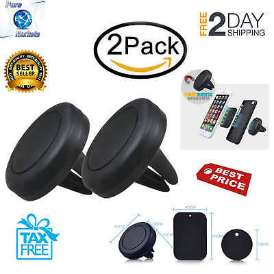 2 PACK Magnetic Mount Universal Air Vent Magnetic Car Mount Cell Phone Holder