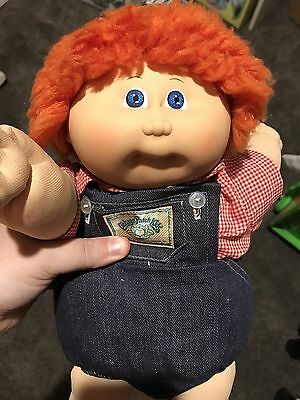 Cabbage Patch Boy Vhtf Red Fuzzy