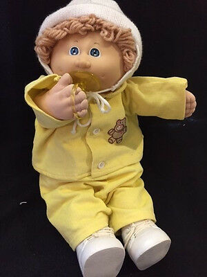 cabbage patch doll paci in snow suit