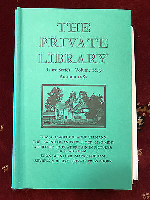 The Private Library 3rd Series Vol.10:3 1987