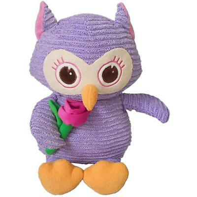 Large Corduroy Owl Stuffed Animal Plush Soft Toys Cute Doll Pillow gift Purple