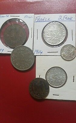 France silver and vintage coins