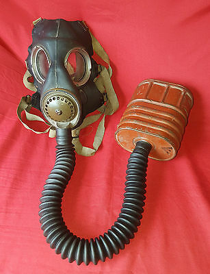 Original WWII Willow Gas Mask and Canvas Carry Bag