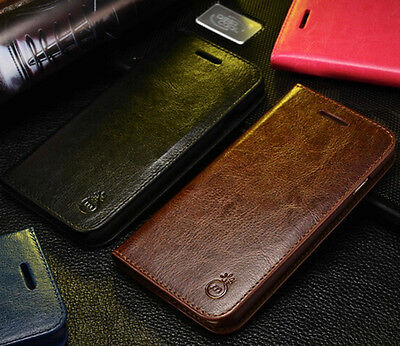 MUSUBO Leather Wallet Card Holder Stand Flip Case Cover for iPhone 5 5s SE
