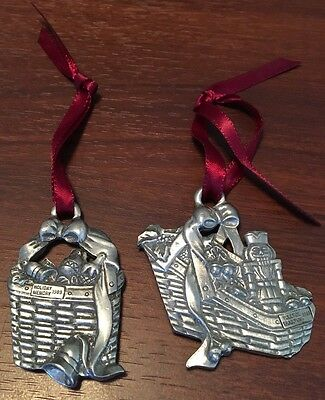 Longaberger Christmas Ornaments Lot of 2 1996 Holiday Memory Yuletide Traditions