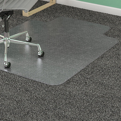 Lorell 36 by 48-Inch Standard Chair Mat, 19 by 10-Inch Lip, Clear