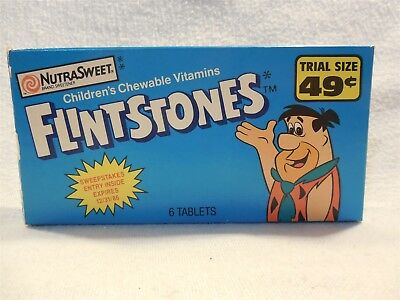 Flintstones 1986 Miles Chewable Vitamins Trial Size Package w/Sweepstakes Entry