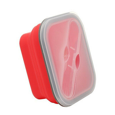 collapsible Microwave Oven Box Bento Silicone Lunch Box Bento Picnic Foldable