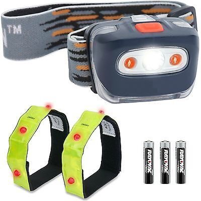 Aennon LED Head Torch - Super Bright, Waterproof, Lightweight. 4 modes. CREE LED