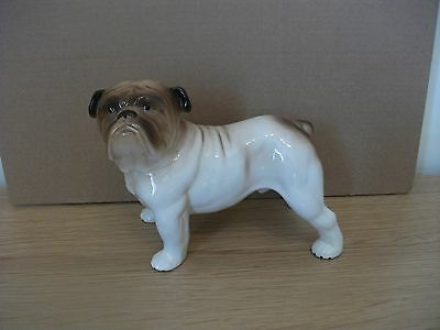 VINTAGE c1960s MELBA WARE BRITISH BULLDOG DOG LARGE CERAMIC FIGURE