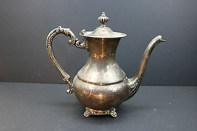Four Star Silver Plated Tea or Coffee Pot, E.P. Brass, Lead MTS, Made in Canada