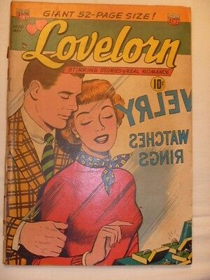 Lovelorn Stirring Stories of Real Romance Comics No. 25 1952  Affordable Copy