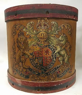 Large Antique English Drum 19th or Early 20th Century