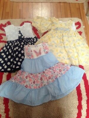 Romany Baby Girls 3x Dresses Size 9-12 Months