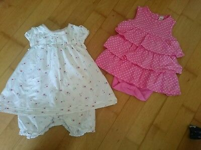 6-9 months boots mini club summer bundle playsuit/romper and frilly dress/top