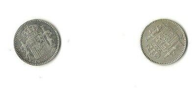 Two (2) Puerto Rico High Grade Coins 1896 5 Centavos Perfect For Jewelry