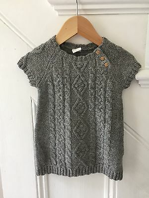 Grey Baby Dress Wooden Buttons 4-6 Months Girl Never Worn Immaculate