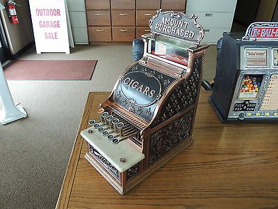 Antique 1908 National Cash Register Model 216> Copper Finish> Works Perfect L@@K