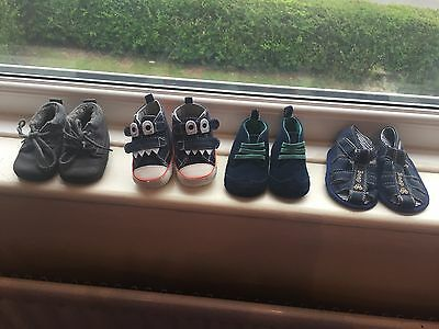 3-6 months boy shoe bundle from next and marks and spencer