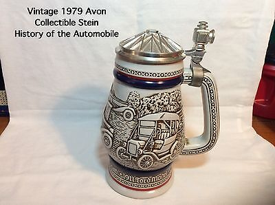1979 Avon History of the Automobile Stein-Handcrafted In Brazil-item #1