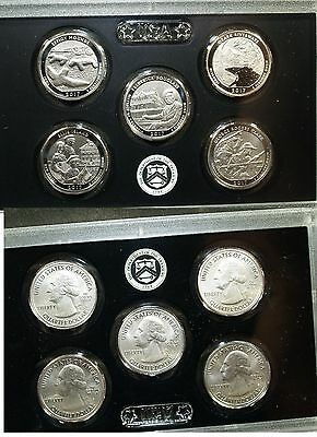 Complete set of 2017-S ENHANCED UNCIRCULATED America the Beautiful Quarters