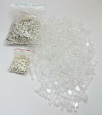 Glass Vial Pendants mix 6 mm for rice perfume oil wholesale 100 glue on cap bung