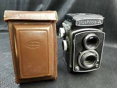 Yashica A TLR Medium Format Camera with Leather Case