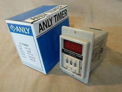US Stock ASY-3D 1-999m DC24V Power On Delay Timer Digital Time Relay 8P 110VAC