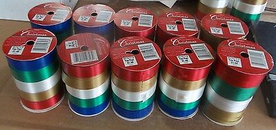 CHRISTMAS WHOLESALE LOT Of 10 Packs of CHRISTMAS RIBBONS CURLING & CLASSIC