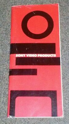 Vintage 1984 Sony video products catalog