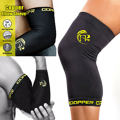 Copper CFR Knee Support Brace Fit Copper Elbow Compression Sleeve Kneecap Sports