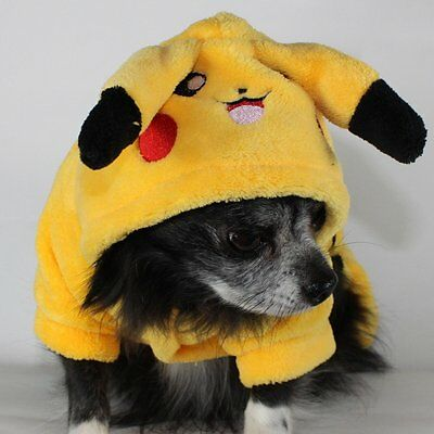 Pikachu Pokemon Dog Costume