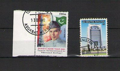 Turkmenistan 2001 / 2005 Michel-Nr. 153 + 186 O Gestempelt Used