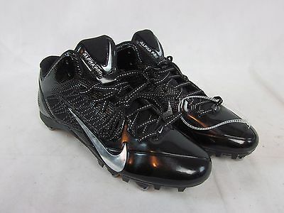 detailed pictures 8baca f3fbb NEW Nike 599025-002 Alpha Pro 3 4 Mens Football Cleats Shoes Black Silver