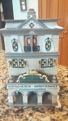 """Dept. 56 """"picadilly Gallery - Egyptian Museum"""" Dickens Village"""