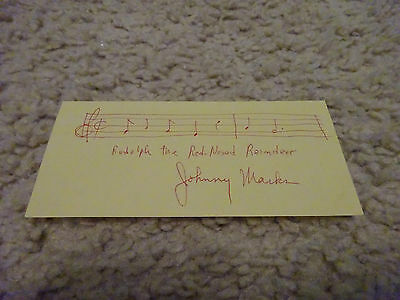 JOHNNY MARKS signed & inscribed musical notes for Rudolph the Red-Nosed Reindeer