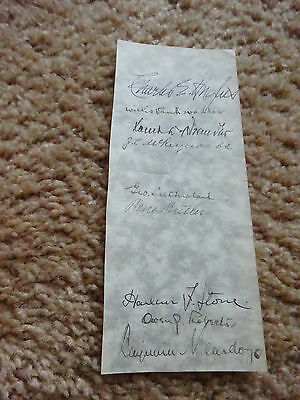 1932-1937 CHARLES HUGHES SUPREME COURT signed by all 9 justices, PSA COA