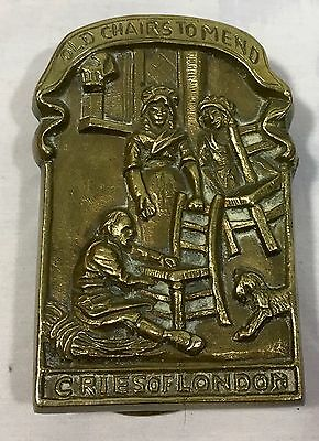 Cries of London VTG Antique Brass Door Knocker - Old Chairs To Mend